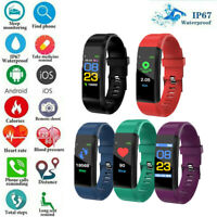 Fitness Smart Watch Activity Heart Rate Tracker Women Men Kids For Android iOS