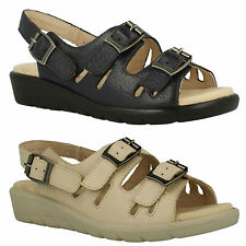 PADDERS PHOENIX LADIES WIDE FIT OPEN TOE CASUAL FLAT COMFORT SUMMER SANDALS