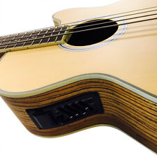 Coban Electro Zebra wood Matt Acoustic Bass 4eq Guitar Luxury