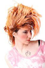 Wig Fancy Dress Carnival Punk Glam Vamp Teased Black Orange