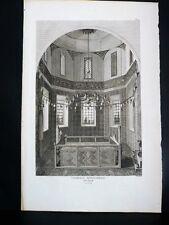 GRAVURE ORIGINALE Chapelle sépulchrale EYUB Tableau Général EMPIRE OTTOMAN 1787