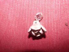 Pampille rose en faïence lustre ancien en cristal de bohème H23D28 +octo 424099