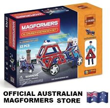 Genuine MAGFORMERS XL Cruisers EMERGENCY Set - 33 pcs 3D Magnetic construction
