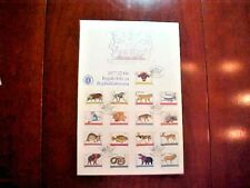 Republic Bophuthatswana 1977 First Day Cover 17 Stamps Monkey Fish Snake T958