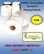 6 Rolls of Dymo® 99019 Compatible Postage Labels for eBay and Paypal