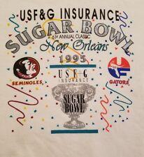 Hanes Fsu Florida State Adult Medium Sugar Bowl 1995 Sweatshirt Vintage