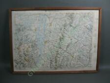 Vintage 1970 Lake Champlain Valley Topographic Reflief Map Vermont New York NR