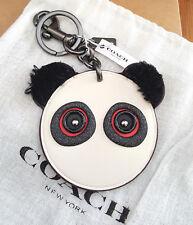 COACH Rocky Bear w/Fuzzy Ears Leather Bag Charm Key Ring w/dustbag