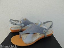 TSUBO GEORGEA ICE STINGRAY LEATHER T- STRAP WEDGE SANDALS, US 7.5/ EUR 38.5 ~NIB