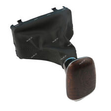 Ash Wood Gear Shift Knob Leather Boot For Audi A4 A5 Q5 10-15 Automatic LHD