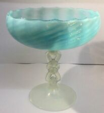 Opalescent Glass Bowl Art Deco Date-Lined Glass