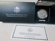 1999 Yellowstone National Park Proof Silver Dollar Commemorative