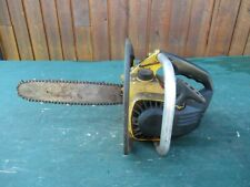 "Vintage McCULLOCH MAC 110 Chainsaw Chain Saw with 12"" Bar"