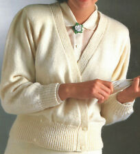Ladies Easy Knit Crossover Style Jacket Cardigan DK Knitting Pattern