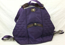NWOT Mosey Purple Convertible Backpack To Handbag Quilted Recycled Plastic