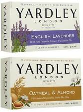 Lot of 4 Bars of Yardley Soap 2 English Lavender & 2 Oatmeal Almond 4.25 oz Each