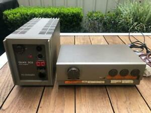 Quad 33 Pre-Amp and 303 Power Amp. Vintage Amplifier c1970s