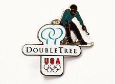 USA Winter Olympics Double Tree Hotels Ski Pin Pinback Italy 2006 Aminco