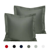"Quality Cotton Euro Pillow Shams Set of 2 Soft Square Pillow Covers 26"" x 26"""