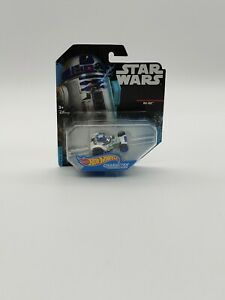 Hot Wheels Star Wars Die Cast Character Cars R2-D2 Collectible New Card Not Mint