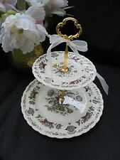 Staffordshire MYOTTS BOUQUET 2 Tier Cake Stand Wedding Bridal Serving TRAY