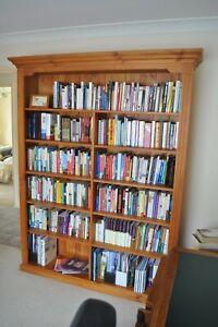 Solid Timber Bookshelf / Bookcase / Storage