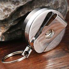 Retractable Card Badge Key Holder Steel Recoil Key Ring Belt Clip Pull Key Chain