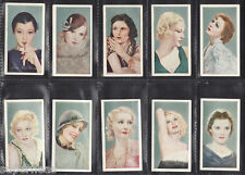 Original 1934 Film Favorites tobacco card set w Blondel Garbo Lombard Gaynor Loy