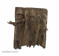 Plate Royal Palace Bini Edo Nigeria Benin Bronze 6 11/16x6 5/16in 670