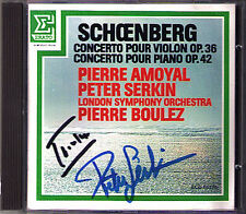 Boulez & Peter SERKIN signed Schoenberg Concerto AMOYAL Violin Piano CD