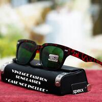 Classic Vintage Fashion Sunglasses Retro Style Shades Black Green New Mens UV400