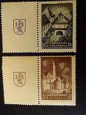 CROATIA , NDH,   1941 PROVISIONAL ISSUE,  WITH GOLDEN OVERPRINT,  MNH