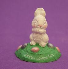 Hallmark Merry Miniatures Easter 1991 Bunny Praying Qsm1597 Spring