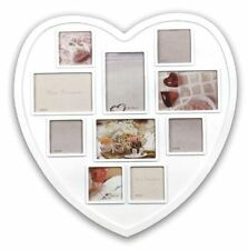 New Large Photo Frame White Hanging Heart Shaped Multi Picture Love Frames Gift
