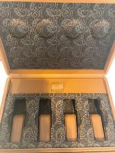 SCATOLA del TEMPO Calf Leather Brown Watch Case Winding Machine Finest
