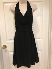 White House Black Market Black Dress Womens Size 4 Little Black Dress Halter