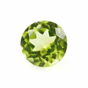 A Pair Of Loose Natural Earth Mined Afghan Peridot Gems Round Cut 5mm Each Stone