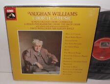 SLS 5082 Vaughan Williams Choral Music / King's HP TAS Listed 7LP Box Set