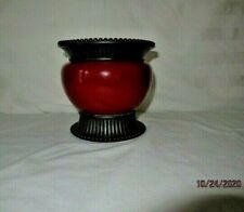 Beautiful Partylite Moroccan Spice Pillar Candle Holders Burgundy-Retired