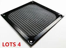LOTS 4 Aluminum Computer 120MM DC Fan Dustproof Filter Strainer Fan Guard