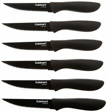 Cuisinart Advantage Color Collection 6 PC Ceramic Coated Steak Knife Set, Black