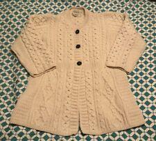 Kilronan Knitwear Sweater Beige 100% Merino Wool L