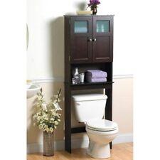 Bath Caddy Over The Toilet Towel Storage Wood Bathroom Organizer Space Saver NEW