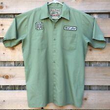 West Coast Choppers Jesse James Work Shirt Button Down Mens Size Medium (39)