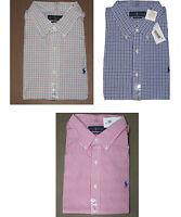 Polo Ralph Lauren Mens Plaid Slim Fit Button Down Casual Dress Shirt New XL 2XL