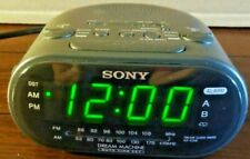 Sony Dream Machine Dual Alarm Clock Icf-C318 Am/Fm Radio Black Tested/Works!