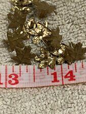 100 Tan  Maple Leaf Brads Fastners Scrapbooking Card Making