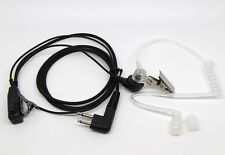 2 PIN Mic Covert Acoustic Tube EARPIECE HEADSET For Motorola Radio Security