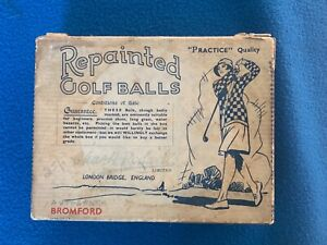 12 BROMFORD VINTAGE GOLF BALLS BOXED BY CHAS H. RODWELL
