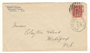 JOSEPH HIGGINS, AMHERST, NOVA SCOTIA ON CORNER COVER, 1900 - MERCHANT TAILOR